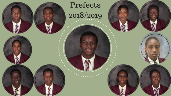 Prefects – Class of 2018/19